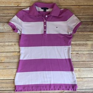 Women's Tommy Hilfiger Striped Short-Sleeve Polo